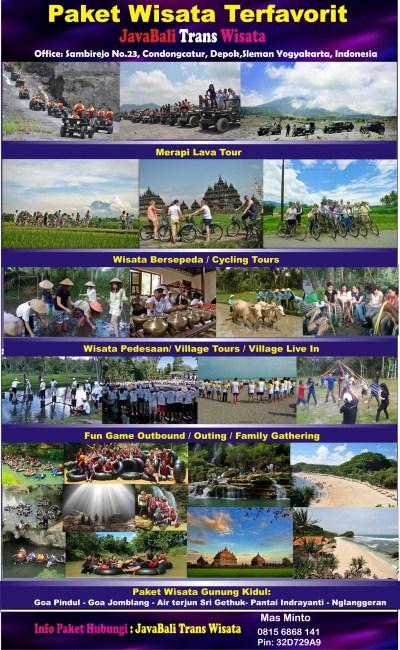 Wisata Favorit Jogja-lava tour-cave tubing pindul-pantai indrayanti-bersepeda di prambanan-outbound seru-wisata pedesaan