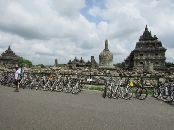 indofood cycling tours prambanan temple