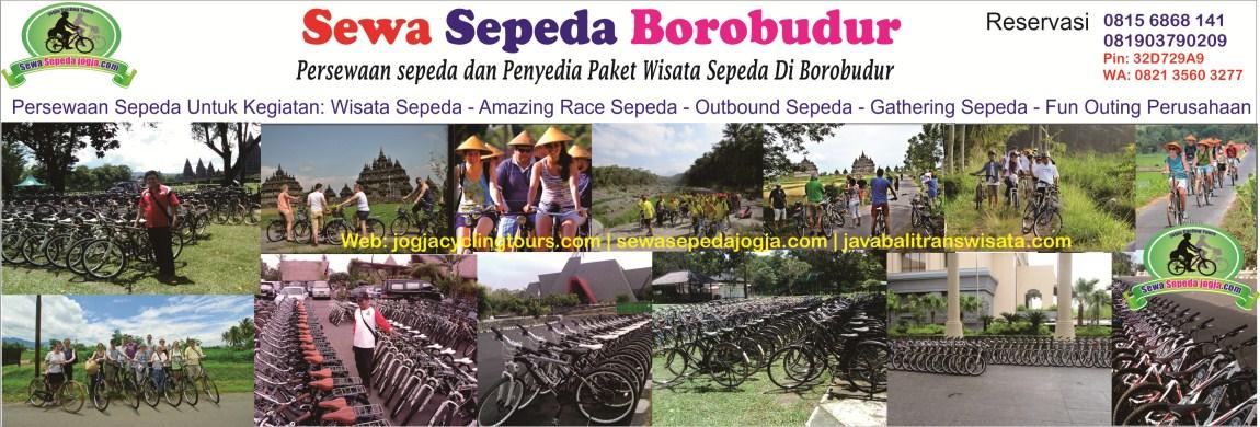 persewaan sepeda di Borobudur