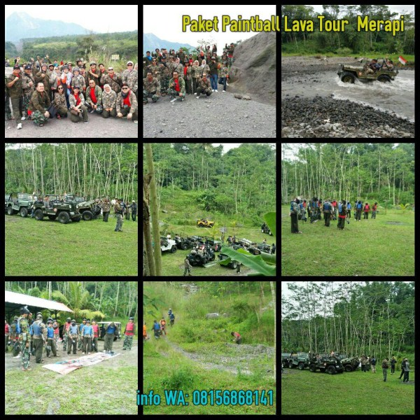 Paintball di Merapi Lava Tour Untuk Employee Gathering