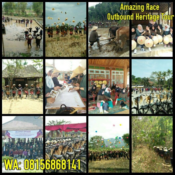 amazing race outbound heritage tour di borobudur