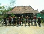 wisata sepeda onthel di Borobudur