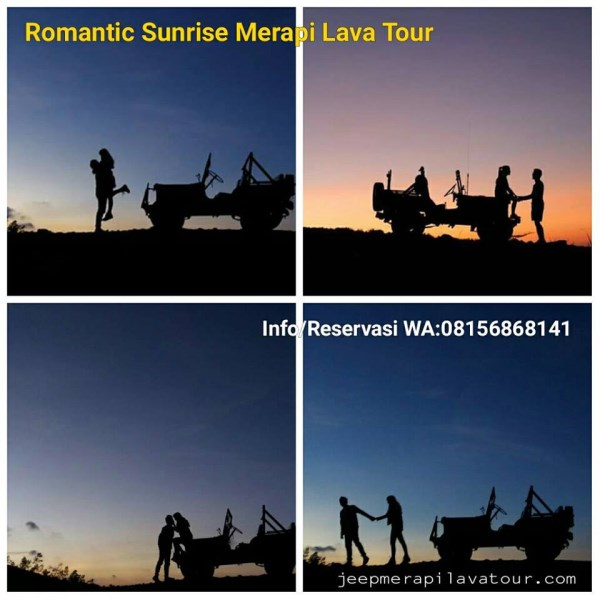 photo pre wedding  sunrise merapi lava tour